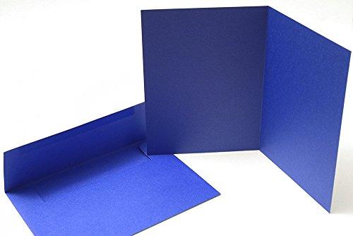 40 Blank Note Cards - Cobalt Blue - Matching Color Envelopes Included
