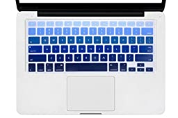 DHZ Dark Blue Gradient Ombre Keyboard Cover Silicone Skin for MacBook Air 13 and MacBook Pro 13\