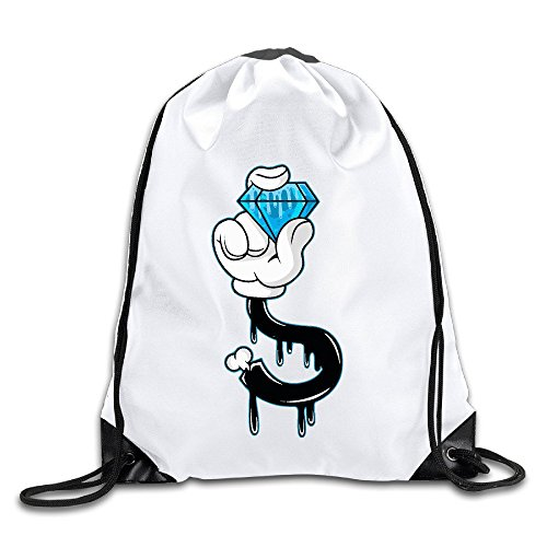 FOODE Diamond Hand Drawstring Backpack Sack - Drill Oakley Bit