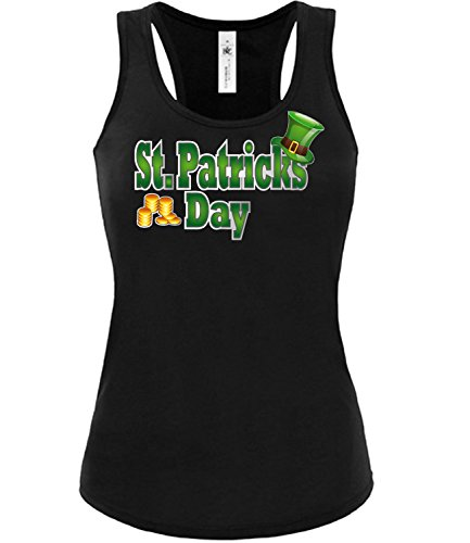 ST.PATRICKS DAY - Kobold - Kleeblatt - Irland - 17 März mujer camiseta Tamaño S to XXL varios colores S-XL Negro