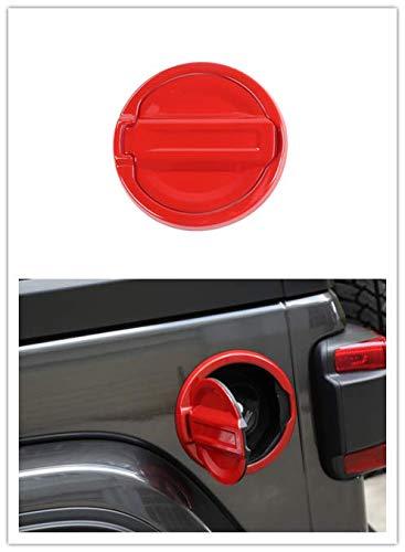 (Highitem Red Carbon Fiber Tape-On Gas Fuel Tank Door Cover Cap Lid for Jeep Wrangler JL 2018 Up (Red))