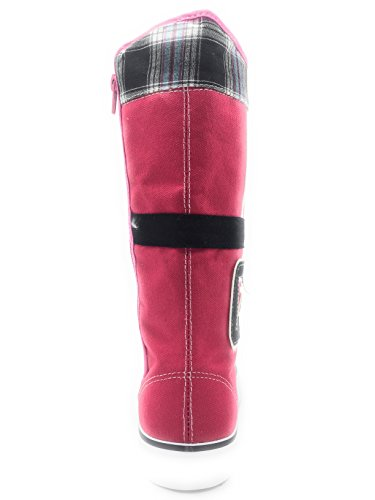 New Fashion Womens Canvas Lace up Mid Calf Knee High Multi Color Sneakers Boot Shoes H.pink-0451 BDqSTorUo1