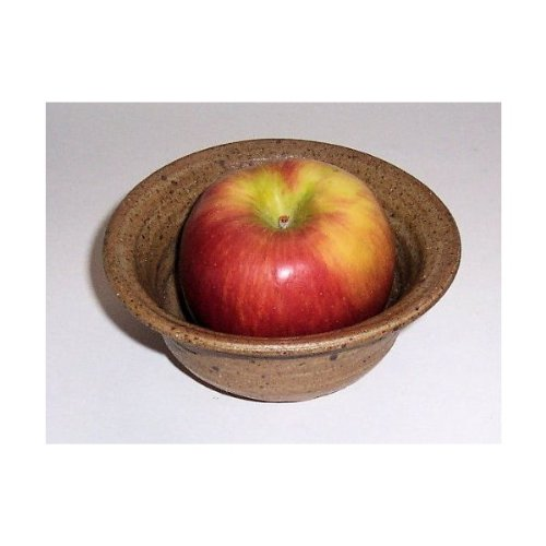 ''ABC Products '' - One Apple - Baking and Serving Dish - With Center - Fast Baking Spike - Hand Made Clay - Made in America