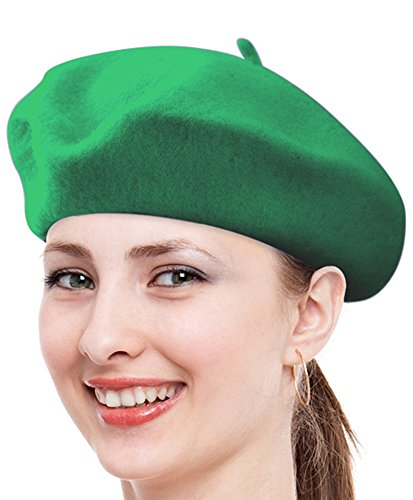 Classic Solid Color Wool French Beret - Beret Green