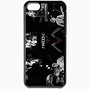 Personalized iPhone 5C Cell phone Case/Cover Skin 2013 maroon by creative spirit Black by icecream design