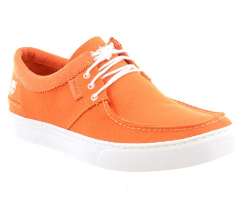 Timberland Mens Casual Oxford Shoes Size 8.5 M 3107R Orange Canvas cTpAUpf02