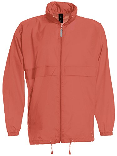 Foldaway Showerproof Windbreaker Jacket by B and C Collection - Pixel Coral - XL