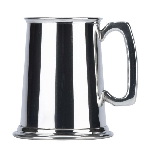 Friary Plain Fine English Pewter Tankard Beer Mug Made in England