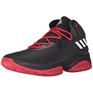 adidas Originals Men's Shoes | Explosive Bounce Basketball, Black/White/Scarlet, (13 M US)