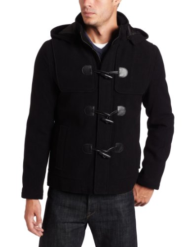 Kenneth Cole Men's Plush Toggle Jacket, Black, Small at Amazon ...