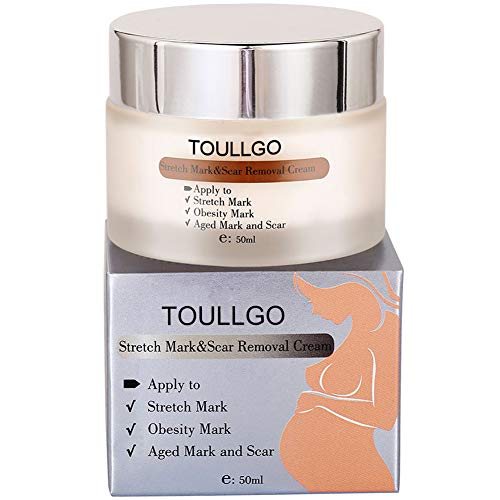 TOULLGO Stretch Mark Cream for Pregnancy, Stretch Mark Scar Cream, Postpartum Obesity Pregnancy Cream, Remove Stretch Marks From Pregnancy, Repair Scar Slack Line Abdomen Stretch Marks Postpartum,50ml