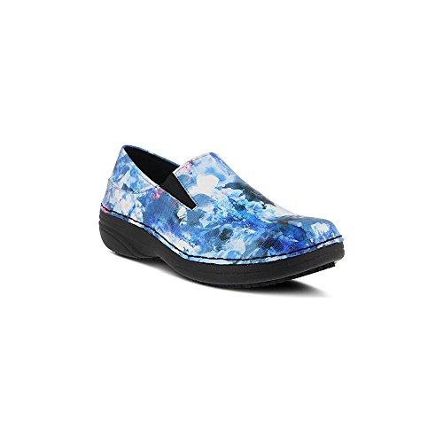 Fjær Trinn Kvinners Manila Arbeid Skoen Blå Multi Skyer