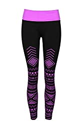 Crush Girls Seamless Yoga Pants Size 7-16 - Purple