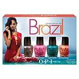 OPI Brazili Nail Polish Collection, Copacababies Mini, 4 Count