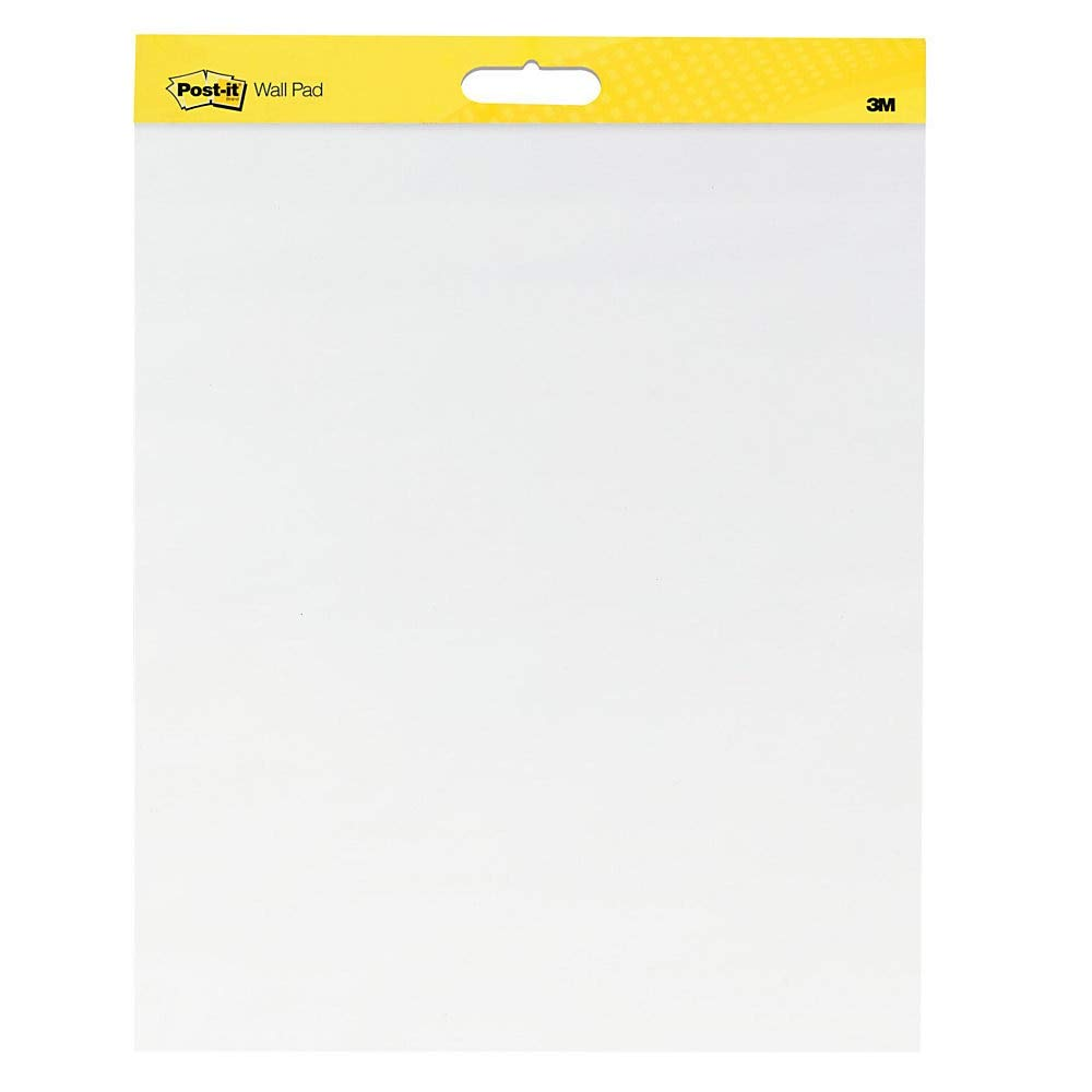 Post-it Super Sticky Wall Easel Pad, 20 x 23 Inches, 20 Sheets/Pad, 1 Pad (566SS), Portable White Premium Self Stick Flip Chart Paper, Rolls for Portability, Hangs with Command Strips by Post-it