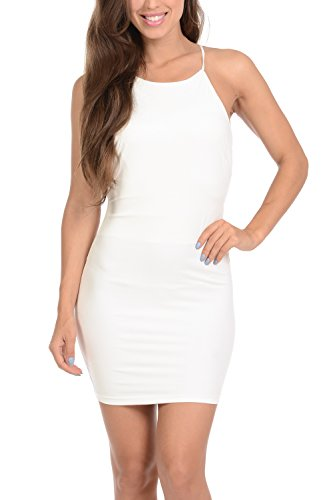 Women's Backless Mini Dress White - 7