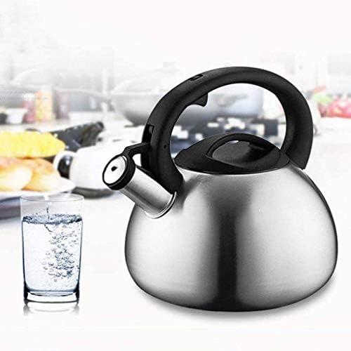 HSWJ Bouilloire pour cuisinière Bouilloire en Acier Inoxydable Cuisinière à gaz Teapot ménagers Cuisinière à Induction Whistle Teapot 3.5L Bouilloire en Acier Inoxydable