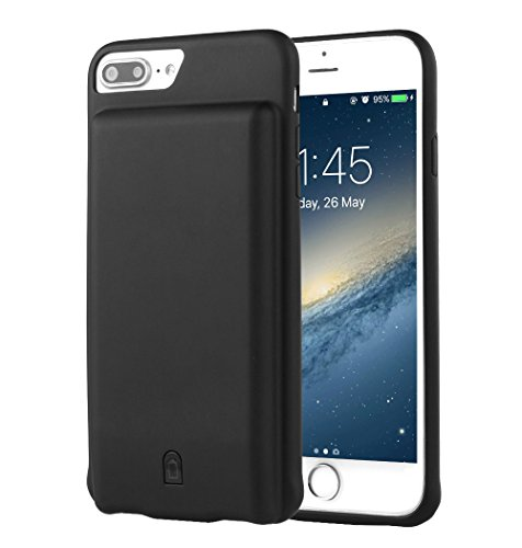 i.VALUX iPhone 6 Plus / 6s Plus / 7 Plus (not for iPhone 6 / 6s / 7) Battery Case Charger 7000mAh External Battery Backup Protective Charger Case (Black)
