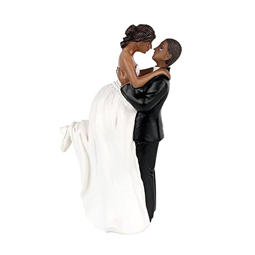 Riverbyland Groom Lift Bride African American Wedding Cake Topper (Topper American African Wedding Cake)
