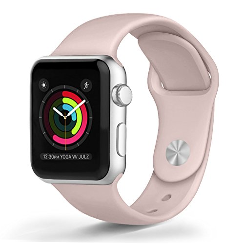 FanTEK 42mm Apple Watch Band S/M, Sports Silicone ...