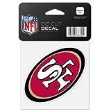 WinCraft NFL San Francisco 49ers 63074011 Perfect Cut Color Decal, 4″ x 4″, Black