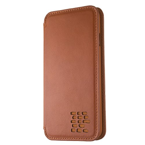 Slim iPhone 6 6S Real Leather Flip Case - No Card Slots - Stylish Double Protection - Cognac Brown