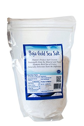 Magnesium Gold - Baja Gold Sea Salt (Fine) 1 Pound Highest Mineralized Salt Perfectly Suited for use with Magnesium Root Cause Protocol