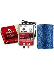Kit Cerca Elétrica Rural Eletrificador Cr30km + 500m Cabo Eletroplástico Trançado (127)