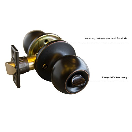 Design House 727396 Canton 6-Way Universal Entry Door Knob and Deadbolt Combo, Oil Rubbed Bronze by Design House (Image #1)