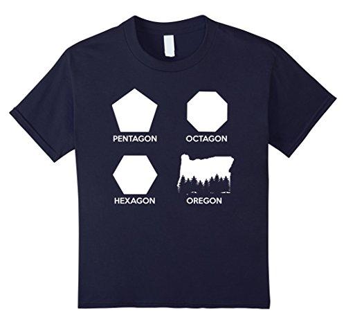 Kids Pentagon Octagon Hexagon Oregon Shapes State Portland Tee 8 - Octagon Pentagon