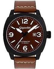 Gigandet G9-001 - Orologio da polso Uomo, Pelle, colore: Marrone