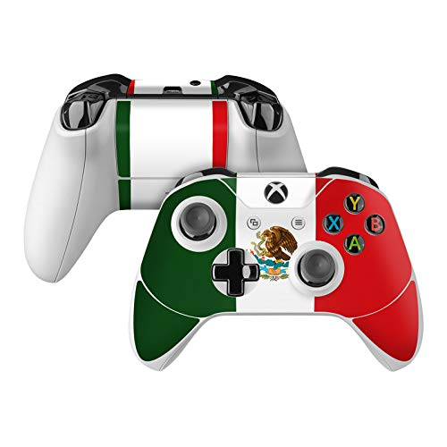 Mexican Flag Skin Decal Compatible with Microsoft Xbox One and One S Controller - Full Cover Wrap for Extra Grip and Protection from DecalGirl