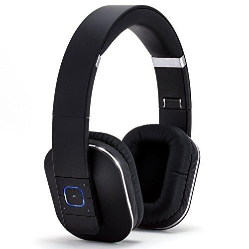 CSL 440 Bluetooth NFC Kopfhörer / wireless Headset inkl. Transportbox - integrierter Akku - 200 Stunden Standby / 10 Stunden für Musik/Telefonie - Noise Reduction-Funktion - geeignet für: Tablets, Notebooks, Handys/Smartphones (Samsung, HTC, Sony, Nokia, LG, Huawei, IPhone etc.) sowie HiFi und Mischpult - neues Modell inkl. NFC