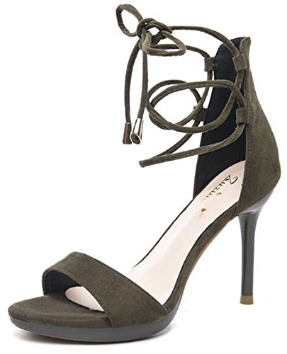women sandal cross 9cm tied fashion heel 2018 sandals high newest sandal 6 thin club green sexy women night office lady UtIwBWx8qR