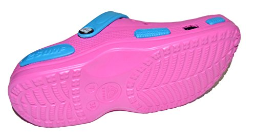 TMY 59–Escarpines 0726/Zuecos para mujer de EVA en rosa/azul de talla: 36–