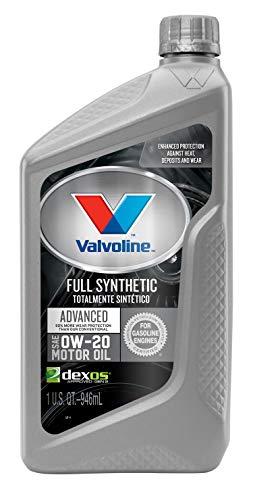 2012 Mitsubishi Galant Engine - Valvoline  Advanced Full Synthetic SAE 0W-20 Motor Oil 1 QT