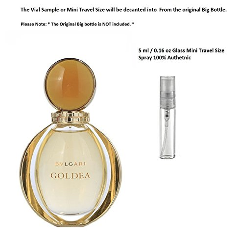 Bvlgari Goldea EDP Women Spray Glass Mini Travel Size 5 ml / 0.16 - Www.bvlgari