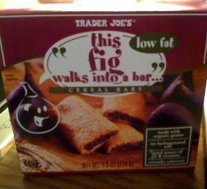 Trader Joe's This Fig Walks Into a Bar Cereal Bars (low fat). 1 Box contains ...