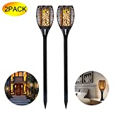 ANGINSTAR Solar Torch Light, 96 Led Waterproof Flickering Flames Torches Lights Outdoor Garden Landscape Decoration Lighting Dusk To Dawn Auto On/Off Security Pathway Patio Driveway Lights (2)