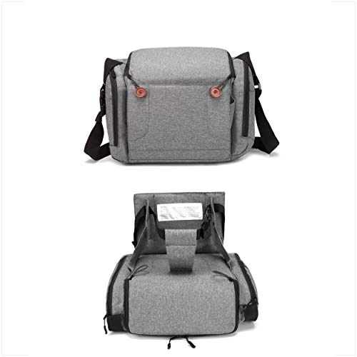 Best Deals! Baby Brielle Portable Gray Travel Infant and Toddler Diaper Bag with Booster Seat for Di...