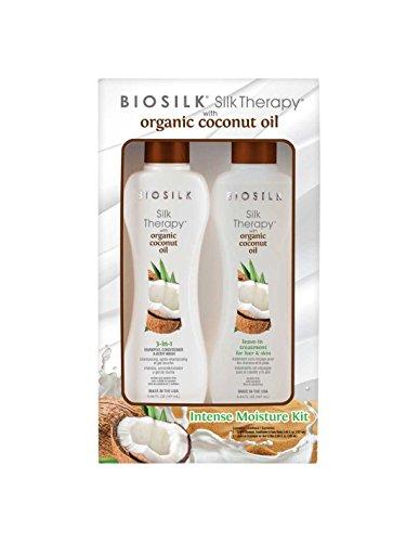 BIOSILK Intense Moisture Kit (Silk Therapy with organic coconut oil)