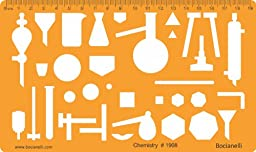 Chemistry Chemical Engineering Laboratory Lab Equipment Symbols Drawing Template Stencil