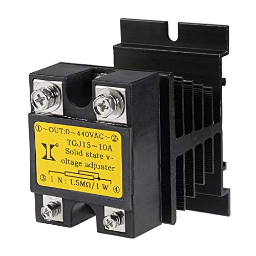 ZCHXD TGJ15-10A440V+F0-50 1.5Mohm 1W to 440VAC 10A Single Phase Solid State Relay Resistance Voltage Regulator
