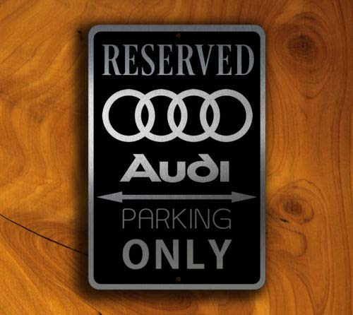 Asdf2llman Audi Parking Sign Aluminium Sign Parking Metal Sign Parking Decor Wall Metal Sign 8X 12