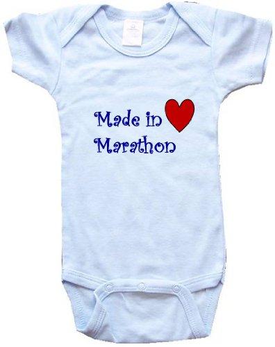 - MADE IN MARATHON - MARATHON BABY - City Series - Blue Baby One Piece Bodysuit - size Medium (12-18M)