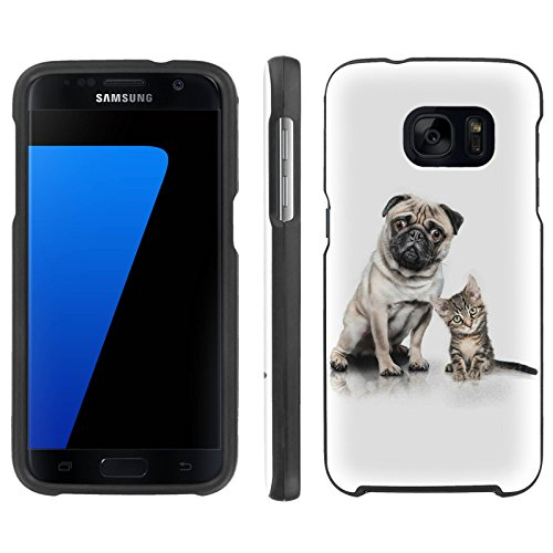 [ArmorXtreme] Case for Samsung Galaxy S7 [Black] [Designer Image Shell Hard Cover Case] - [Mops and A Cat]