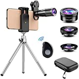 Apexel Phone Lens Kit 6 in 1, 22X Telephoto Lens, 205° Fisheye Lens, 120° Wide Angle Lens & 25X Macro Lens(Screwed Together), Compatible with iPhone 11 8 7 6 6s Plus X Xs/Max XR Samsung