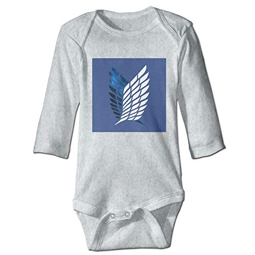 Attack On Titan - Scouting Legion Baby Long Sleeve Bodysuits Gray ()