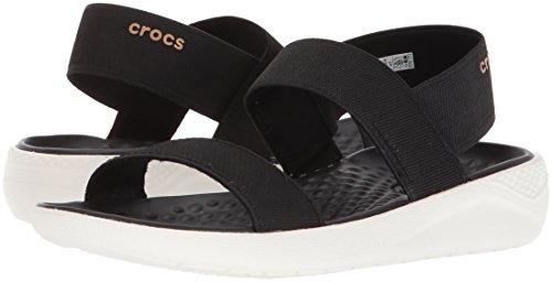 Crocs Women's LiteRide Sandal, Black/White, 5 M US by Crocs (Image #5)