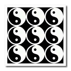 ht_167056_1 Spiritual Awakenings-Patterns - Yin and Yang pattern in black and white - Iron on Heat Transfers - 8x8 Iron on Heat Transfer for White Material